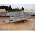 Accesorios remolques plataforma con ruedas interiores
